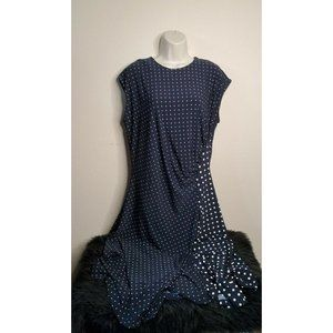 Lauren Ralph Lauren Felthie Polka Dot Midi Dress